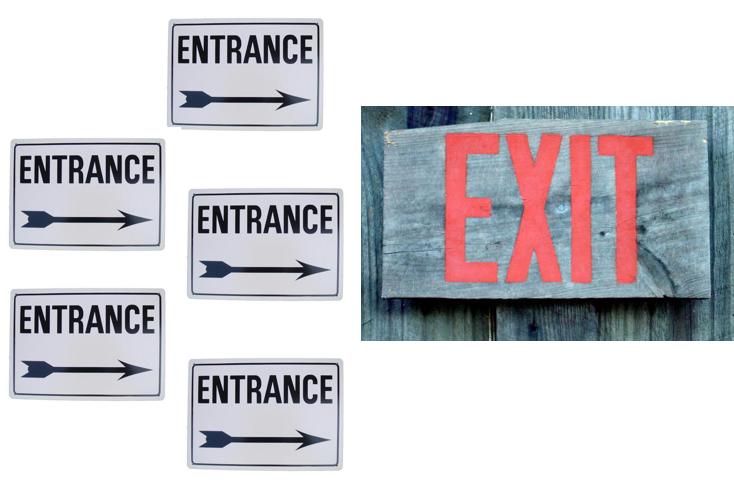 入口はたくさん出口は一つ