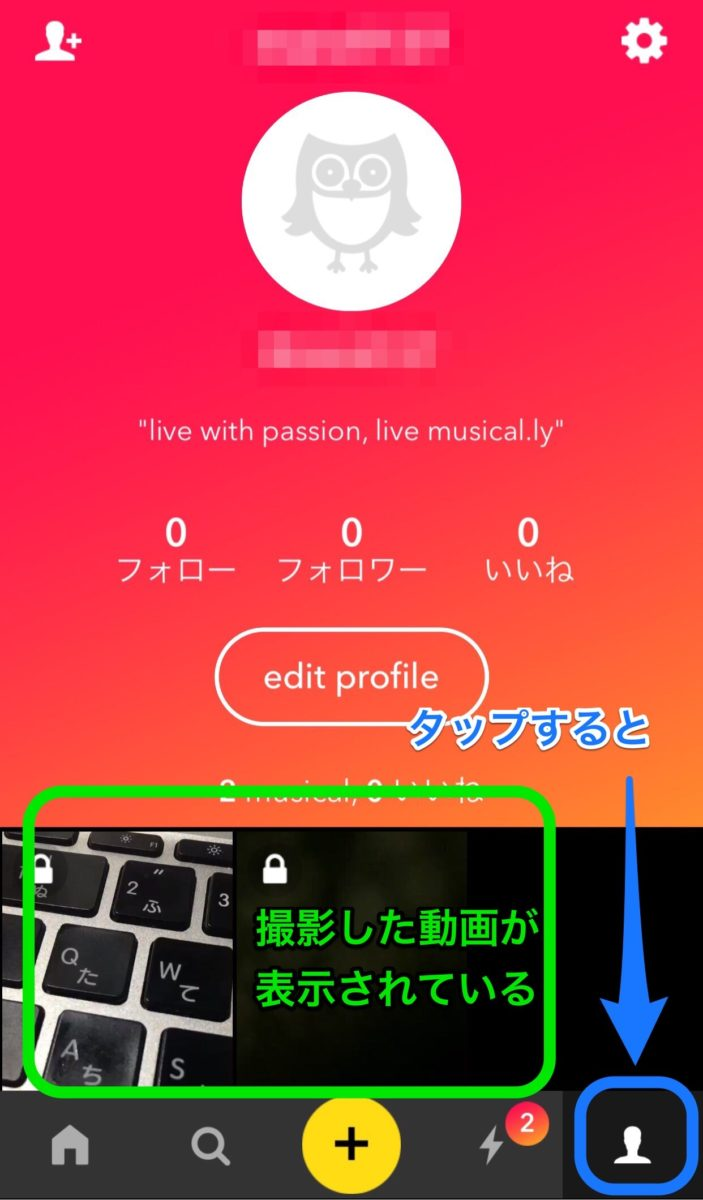 musical.ly 端末保存画面