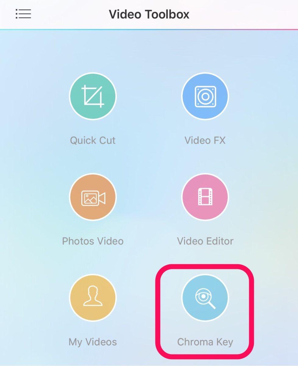 Video Toolbox メニュー画面
